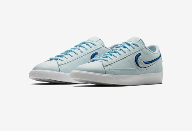 耐克Nike Blazer Low 3D 这个夏天可以拥有这份冰蓝!